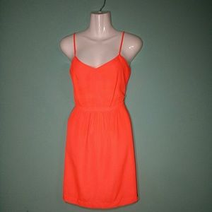 J. Crew Neon Orange Dress Size 6